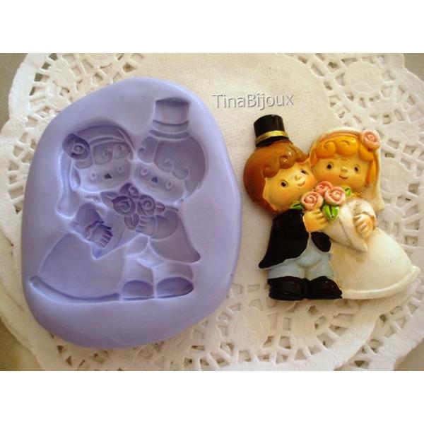Segnaposto Matrimonio In Fimo.Stampo Silicone Gli Sposi Cod 4 Per Gesso Fimo Bomboniera