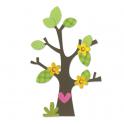 FUSTELLA BIGZ DIE - TREE WITH FLOWER, HEART & LEAVES 660404