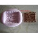 """Stampino in silicone per fimo"""" PAN DI STELLE ( 1)""""2,4cm"""
