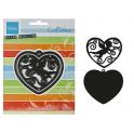 Marianne Design Craftables Filigraan engel in hart CR1283