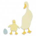 FUSTELLA BIGZ DIE - Papera pulcino uovo DUCK & DUCKLING 663306